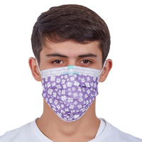 Masque hygiénique jetable médical de protection respirable respirant non tissé de pollution atmosphérique à 3 plis