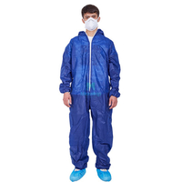Type 5 6 Ce costume global anti-éclaboussures certifié respirant PP vêtements de protection jetables